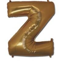 Фольгированная Буква Z золото (102 см)